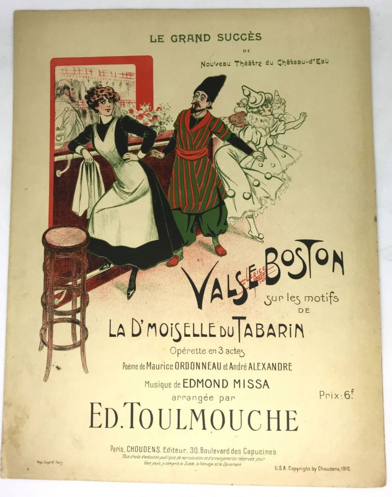 [SHEET MUSIC] Valse Boston (Boston Waltz); Operette en 3 actes. Edmond Missa, Music.
