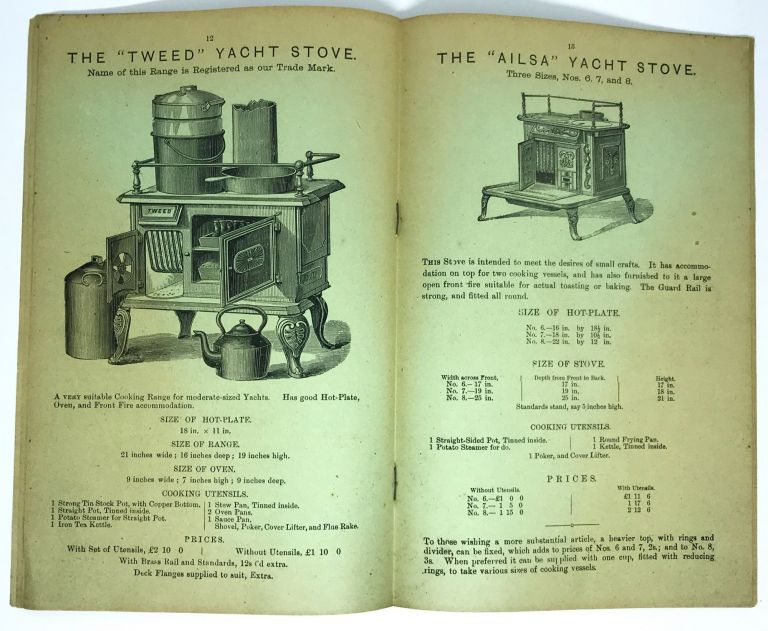 Illustrated Price List of Ships' Galley Ranges, Cabooses, Yacht, Boat and Cabin Stoves. GOULD J., SON.