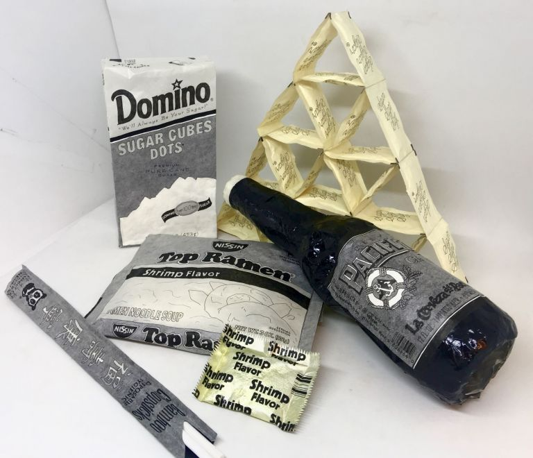 [ART] PAPER SCULPTURES; PROVISIONS FOR THE AFTERLIFE. EMILY JENNE.