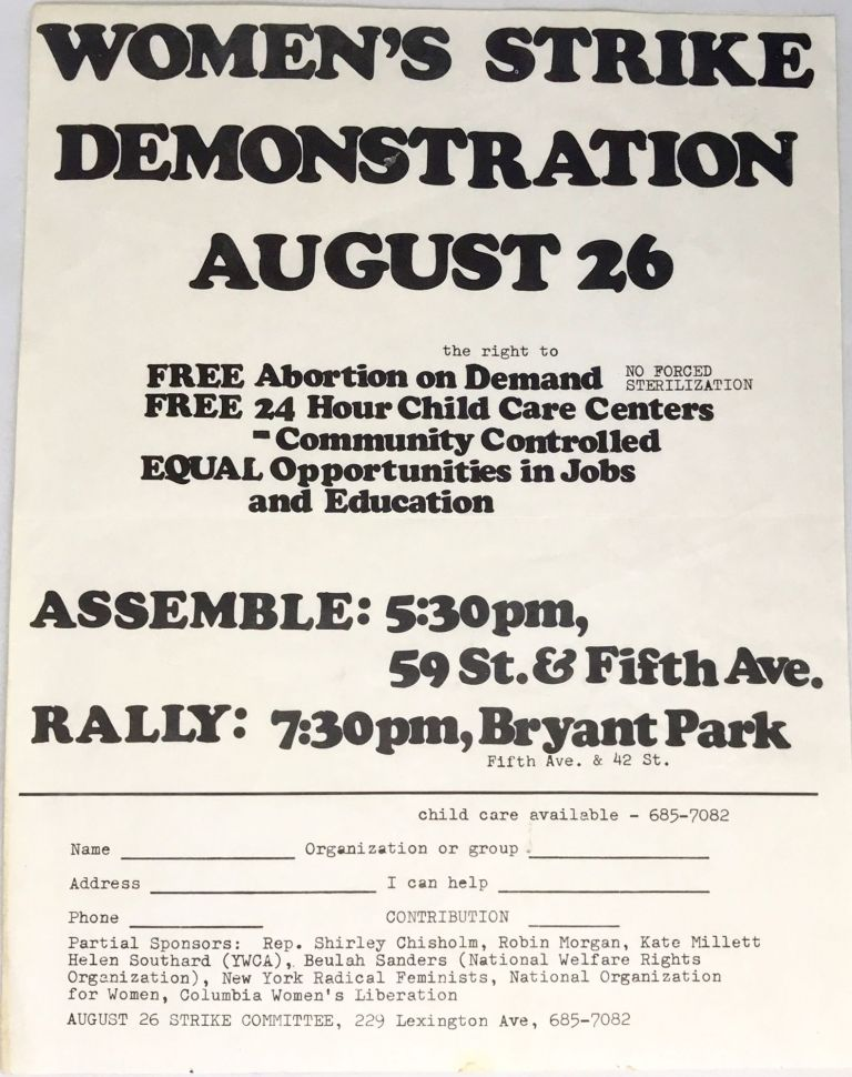 [WOMEN] Women's Strike Demonstration August 26. August 26 Strike Committee.