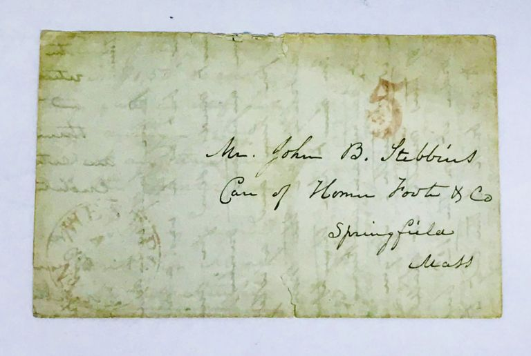 [WEST POINT] [BEER] Letter to Brother re: missing Beer; Wife of Civil War Brigadier General Eliakim Parker Scammon. Margaret Scammon, Stebbins.