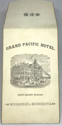 MENU] Grand Pacific Hotel - John Baugh, Manager; MOORHEAD, MINNESOTA