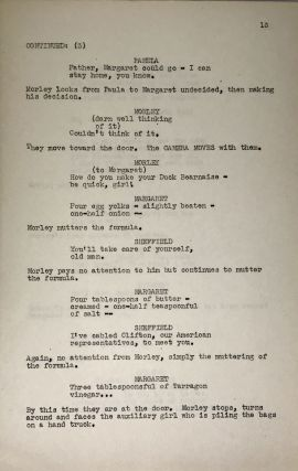 My Kingdom For a Cook [Without Notice]; Original Screenplay for the 1943 film