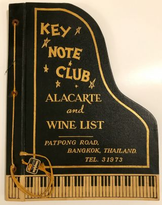 MENU] Key Note Club; A La Carte and Wine List