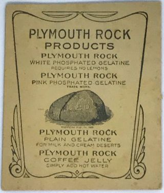 [GELATIN] Plymouth Rock; Pink and White Phosphated Gelatine