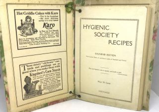COMMUNITY COOKBOOK] Hygienic Society Recipes; Souvenir Edition With favorite Dishes of well-known...