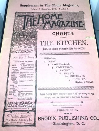 THE HOME MAGAZINE - (Supplement to The Home Magazine); Charts For The Kitchen - Volume 2,...