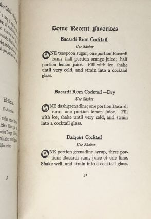 [COCKTAILS] The Cocktail Book; A Sideboard Manual for Gentlemen