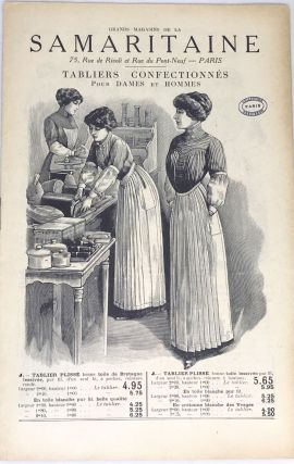 FRENCH] [APRON CATALOG] Grand Magasins de la Samaritaine - Tabliers Confectionn s Pour Dames et...