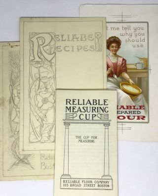 ORIGINAL ART] [BAKING] Reliable Flour Company; Reliable Measuring Cup pamphlets