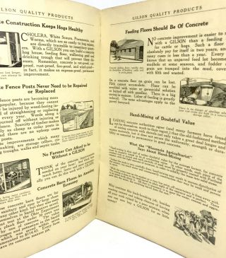 [TRADE CATALOG] GILSON Quality Products - Direct From Factory to You; Foundry and Machine Works - Catalog No. 26