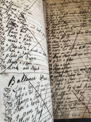 [LEDGER] [MANUSCRIPT] Jacob Suydam His Book 1762; 10 pages laid in - family history