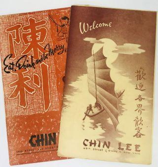 MENU] CHIN LEE - Welcome & Eat, Drink and be Merry; 49th Street & Broadway, New York, N.Y