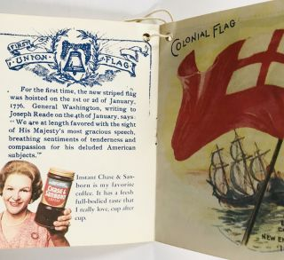 [ADVERTISING] [COFFEE] THE HISTORY of our AMERICAN FLAG; Compliments of INSTANT CHASE & SANBORN
