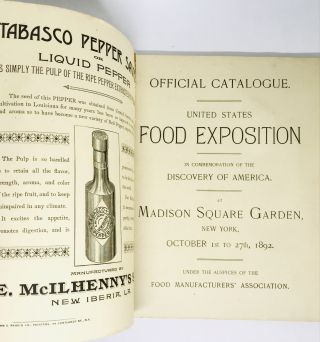 [FOOD HISTORY] [EXPOSITION] [NEW YORK] United States Food Exposition; Official Catalog - Madison Square Garden
